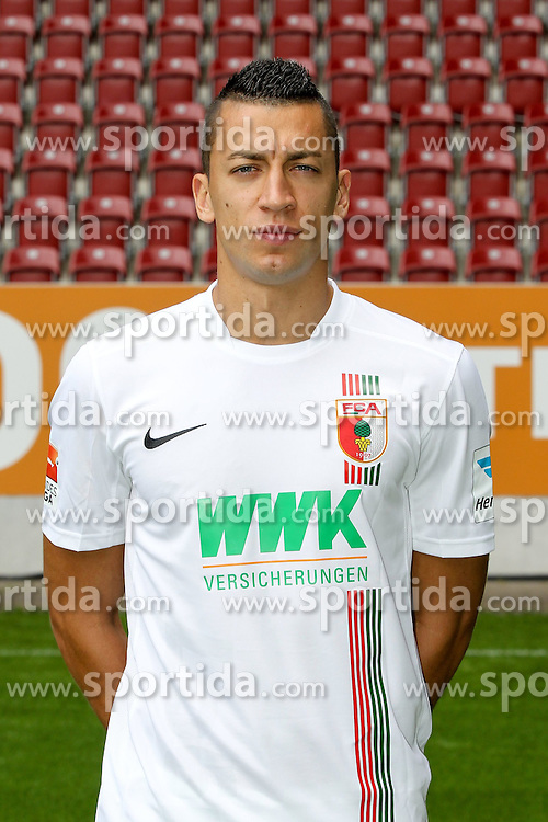 08.07.2015, WWK Arena, Augsburg, GER, 1. FBL, FC Augsburg, Fototermin, im Bild Nikola Djurdjic #34 (FC Augsburg) // during the official Team and Portrait Photoshoot of German Bundesliga Club FC Augsburg at the WWK Arena in Augsburg, Germany on 2015/07/08. EXPA Pictures © 2015, PhotoCredit: EXPA/ Eibner-Pressefoto/ Kolbert<br /> <br /> *****ATTENTION - OUT of GER*****