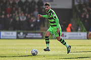 Forest Green Rovers Chris Clements(22) passes the ball forward during the EFL Sky Bet League 2 match between Forest Green Rovers and Notts County at the New Lawn, Forest Green, United Kingdom on 10 March 2018. Picture by Shane Healey.