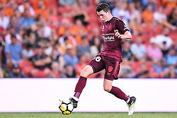 January 8, 2018 - Brisbane, QUEENSLAND, AUSTRALIA - Daniel Leck of the Roar (36) controls the ball during the round fifteen Hyundai A-League match between the Brisbane Roar and Sydney FC at Suncorp Stadium on Monday, January 8, 2018 in Brisbane, Australia. (Credit Image: © Albert Perez via ZUMA Wire)