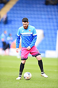 Hartlepool player Liam Donnelly warms up during the EFL Sky Bet League 2 match between Colchester United and Hartlepool United at the Weston Homes Community Stadium, Colchester, England on 25 February 2017. Photo by Ian  Muir.