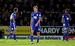 Birmingham City players look dejected after conceding a goal to Jamie Ward of Burton Albion making it 2-0 - Mandatory by-line: Robbie Stephenson/JMP - 21/10/2016 - FOOTBALL - Pirelli Stadium - Burton upon Trent, England - Burton Albion v Birmingham City - Sky Bet Championship