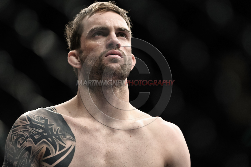 "LONDON, ENGLAND, FEBRUARY 21, 2009: Brian Cobb during ""UFC 95: Sanchez vs. Stevenson"" inside the O2 Arena in Greenwich, London."