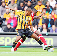 Hull Saturday september 18th, 2010: Jay Simpson of Hull City Battleing to keep posetion during the NPower Championship Match at the KC Stadium,Hull. (Pic by Darren Walker/Focus Images)..