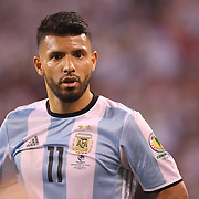 EAST RUTHERFORD, NEW JERSEY - JUNE 26:  Sergio Aguero #11 of Argentina during the Argentina Vs Chile Final match of the Copa America Centenario USA 2016 Tournament at MetLife Stadium on June 26, 2016 in East Rutherford, New Jersey. (Photo by Tim Clayton/Corbis via Getty Images)
