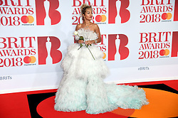 Rita Ora attending the Brit Awards at the O2 Arena, London. Photo credit should read: Doug Peters/EMPICS Entertainment