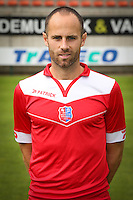 Pieter-Jan Monteyne pictured during the 2015-2016 season photo shoot of Belgian first league soccer team Royal Mouscron Peruwelz, Thursday 16 July 2015 in Mouscron.