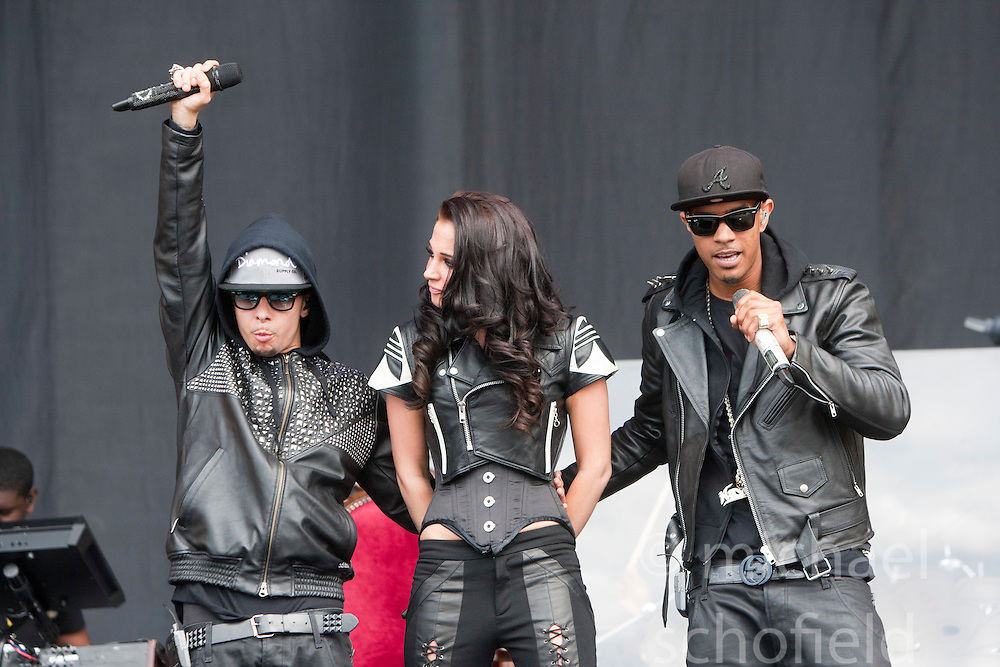 N-Dubz play the main stage..T in the Park on Saturday 9th July 2011. T in the Park 2011 music festival takes place from 7-10th July 2011 in Balado, Fife, Scotland..©Pic : Michael Schofield.