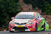 #24 Jake Hill GBR RCIB Insurance Racing Toyota Avensis  during first practice for the BTCC Oulton Park 4th-5th June 2016 at Oulton Park, Little Budworth, Cheshire, United Kingdom. June 04 2016. World Copyright Peter Taylor/PSP.