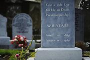 Sligo. Drumcliff Churchyard where the Nobel Prize-winning poet W.B. Yeats  is buried.