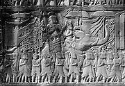 Bayon temple stone relief on wall.<br /> November 2001