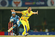 Mohit Sharma of Chennai Super Kings appeals for the wicket of Titans captain Henry Davids from the first ball of the match during match 3 of the Karbonn Smart Champions League T20 (CLT20) 2013  between The Chennai Superkings and the Titans held at the JSCA International Cricket Stadium, Ranchi on the 22nd September 2013<br /> <br /> Photo by Ron Gaunt-CLT20-SPORTZPICS  <br /> <br /> Use of this image is subject to the terms and conditions as outlined by the CLT20. These terms can be found by following this link:<br /> <br /> http://sportzpics.photoshelter.com/image/I0000NmDchxxGVv4