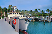 Fisher Island, Miami Florida, 62' Nordhaven Motor Yacht, Rana, Bow, FL, Marina, Yachts, luxury condos, lifestyle, rich, famous; Intracoastal Waterway; Miami; Florida; USA; Atlantic Coast,