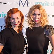 NLD/Amsterdam/20131014 -  Marie Claire Starters Award 2013, Claudia Straatmans en …..