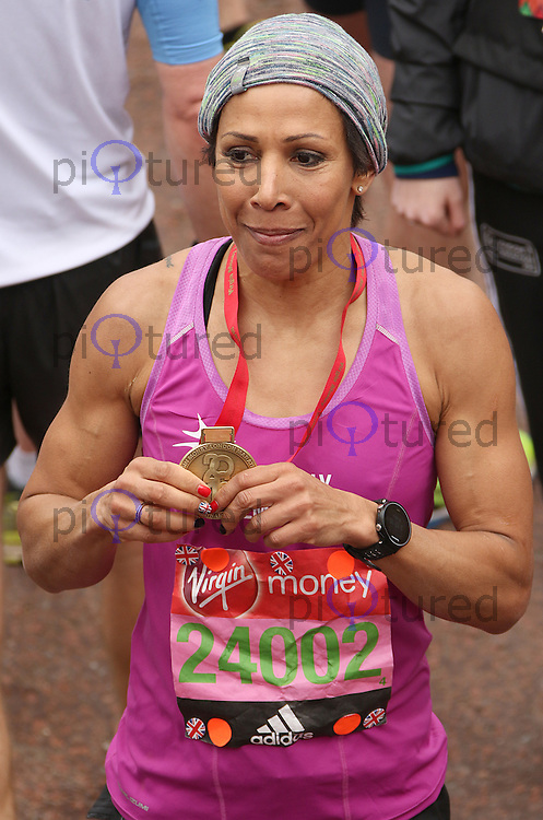 Dame Kelly Holmes, Virgin Money London Marathon, London UK, 24 April 2016, Photo by Brett D. Cove