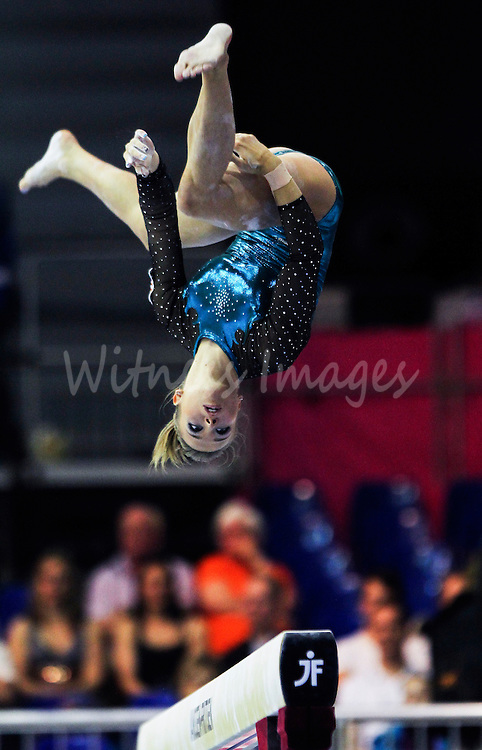 Hungarian Dorina Boczogo competes on the beam during the qualification round of the Women Artistic Gymnastics European Championships in Brussels, Belgium, 10 Mail 2011.