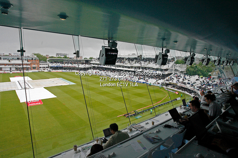 17/05/2008. England v New Zealand - First nPower Cricket Test Match. <br /> GV (general view) of Lord's from the Media Centre.<br /> Photo: Glyn Thomas/Offside