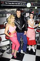 Heidi Range; Ben Freeman, Happy Days: A New Musical - photocall, Ed's Easy Diner, London UK, 08 January 2014, Photo by Richard Goldschmidt