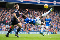 Rangers Lassana Coulibaly attempts a shot on goal during the Ladbrokes Scottish Premiership match at Ibrox, Glasgow.