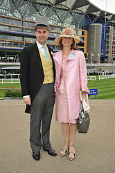 VISCOUNT & VISCOUNTESS MACKINTOSH OF HALIFAX at the Royal Ascot racing festival 2009 held on 17th June 2009.