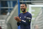 Derby County defender Ashley Cole (26) gestures to his players after his goal 2-1 during the The FA Cup 5th round match between Brighton and Hove Albion and Derby County at the American Express Community Stadium, Brighton and Hove, England on 16 February 2019.