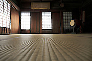 tatami room at an old temple in Japan