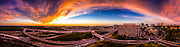 Mclean virginia sunrise panorama including Tysons Corner and the beltway 495