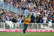 Jake Libby of Nottinghamshire Outlaws takes the catch to dismiss Moeen Ali of Worcestershire Rapids during the Vitality T20 Blast North Group match between Nottinghamshire County Cricket Club and Worcestershire County Cricket Club at Trent Bridge, West Bridgford, United Kingdon on 18 July 2019.