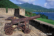 cannon at Fort Shirley, Dominica, West Indies ( Eastern Caribbean )