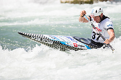 Benjamin Savsek of Slovenia competes in Canoe Single (C1) Men during International Slalom Kayak-Canoe competition, on May 6, 2018 in Tacen, Ljubljana, Slovenia. Photo by Vid Ponikvar / Sportida