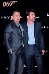 (L-R) Daniel Craig, and Javier Bardem during the Premiere of the latest James Bond movie 007 Skyfall, Madrid, Spain, Marta G. Rodriguez / DyD Fotografos / i-Images....SPAIN OUT