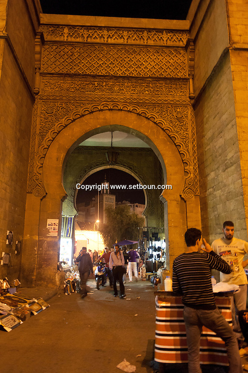 Morocco, Casablanca, the walls,  the entrance of the old medina  nations unis square