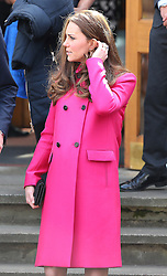 Kate, Duchess of Cambridge at Christ Church Gipsy Hill in south east London, UK. 27/03/2015<br />BYLINE MUST READ : JAMESY/GOTCHA IMAGES<br /><br />Copyright by © Gotcha Images Ltd. All rights reserved.<br />Usage of this image is conditional upon the acceptance <br />of Gotcha Images Ltd, terms and conditions available at<br />www.gotchaimages.com