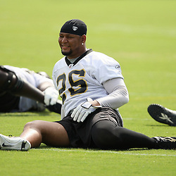 2008 May 21: New Orleans Saints running back Deuce McAllister #26 stretches during team organized activities at the Saints training facility in Metairie, LA. .