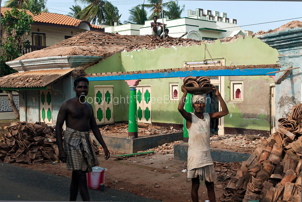 House being demolished in Nagore.