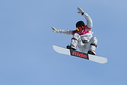 February 19, 2018 - Pyeongchang, SOUTH KOREA - 180219 Jessika Jenson of USA competes in the Women's Big Air Qualification during day ten of the 2018 Winter Olympics on February 19, 2018 in Pyeongchang..Photo: Carl Sandin / BILDBYRÃ…N / kod CS / 57999_306 (Credit Image: © Carl Sandin/Bildbyran via ZUMA Press)