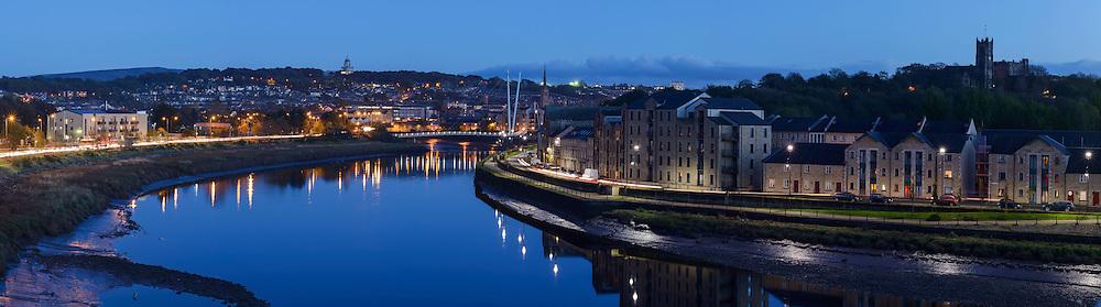 Lancaster panoramic city skyline
