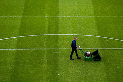 A general view of The John Smith's Stadium, home to Huddersfield Town as a groundsman works on the pitch - Mandatory by-line: Robbie Stephenson/JMP - 20/01/2019 - FOOTBALL - The John Smith's Stadium - Huddersfield, England - Huddersfield Town v Manchester City - Premier League