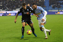 "Foto Filippo Rubin<br /> 01/12/2018 Ferrara (Italia)<br /> Sport Calcio<br /> Spal - Empoli - Campionato di calcio Serie A 2018/2019 - Stadio ""Paolo Mazza""<br /> Nella foto: GIOVANNI DI LORENZO (EMPOLI) VS MOHAMED FARES (SPAL)<br /> <br /> Photo Filippo Rubin<br /> December 01, 2018 Ferrara (Italy)<br /> Sport Soccer<br /> Spal vs Empoli - Italian Football Championship League A 2018/2019 - ""Paolo Mazza"" Stadium <br /> In the pic: GIOVANNI DI LORENZO (EMPOLI) VS MOHAMED FARES (SPAL)"
