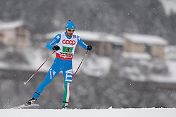 24.02.2013, Langlaufstadion, Lago di Tesero, ITA, FIS Weltmeisterschaften Ski Nordisch, Nordische Kombination, Langlauf Team, im Bild Giuseppe Michielli (ITA) // Giuseppe Michielli of Italy during the Mens Nordic Combined Team Race of the FIS Nordic Ski World Championships 2013 at the Cross Country Stadium, Lago di Tesero, Italy on 2013/02/24. EXPA Pictures ©  2013, PhotoCredit: EXPA/ Federico Modica