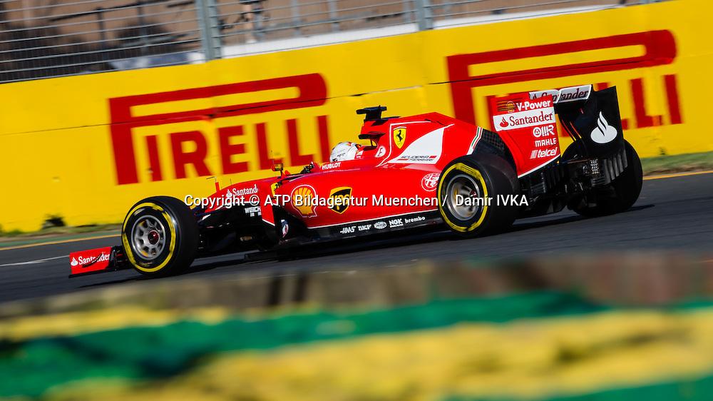 Sebastian VETTEL, GER, Team Scuderia Ferrari, Ferrari SF15T,<br /> AUSTRALIAN Formula One Grand Prix 2015, Albert Park  - <br /> Formel 1 Rennen in Australien, Motorsport, F1 GP, 13.03. Honorarpflichtiges Foto, Fee liable image, <br /> Copyright &copy; ATP Damir IVKA