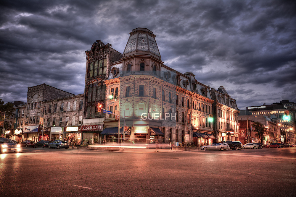 The hauntingly beautiful Petrie building, gently lit by the streetlights.  Photo by Ildiko Annable