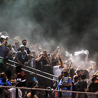 Hoggard High School football fans celebrate a touchdown Friday October 3, 2014 in Wilmington, N.C. (Jason A. Frizzelle)