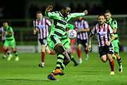 Forest Green Rovers Shamir Mullings(14) controls the ball during the EFL Sky Bet League 2 match between Forest Green Rovers and Lincoln City at the New Lawn, Forest Green, United Kingdom on 12 September 2017. Photo by Shane Healey.