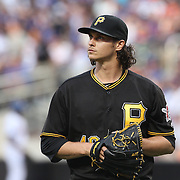 NEW YORK, NEW YORK - June 15: Pitcher Jeff Locke #49 of the Pittsburgh Pirates pitching during the Pittsburgh Pirates Vs New York Mets regular season MLB game at Citi Field on June 15, 2016 in New York City. (Photo by Tim Clayton/Corbis via Getty Images)
