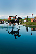 Eventing (equestrian triathlon), Cross Country competition, The Event at Rebecca Farms,  Kalispell, Montana, Brynn Hamel, Trakehner