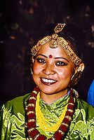 Hill tribe dance troupe, Darjeeling, West Bengal, India