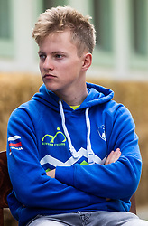Gal Glivar during press conference of Slovenian national cycling team before world championship in Yorkshire, Great Britain. Press conference held in Dvor Jezersek, on 17th of September, 2019, Kranj, Slovenia. Photo by Grega Valancic / Sportida