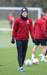 CARDIFF, WALES - Monday, March 25, 2013: Wales' Gareth Bale during a training session at the Vale of Glamorgan ahead of the 2014 FIFA World Cup Brazil Qualifying Group A match against Croatia. (Pic by David Rawcliffe/Propaganda)