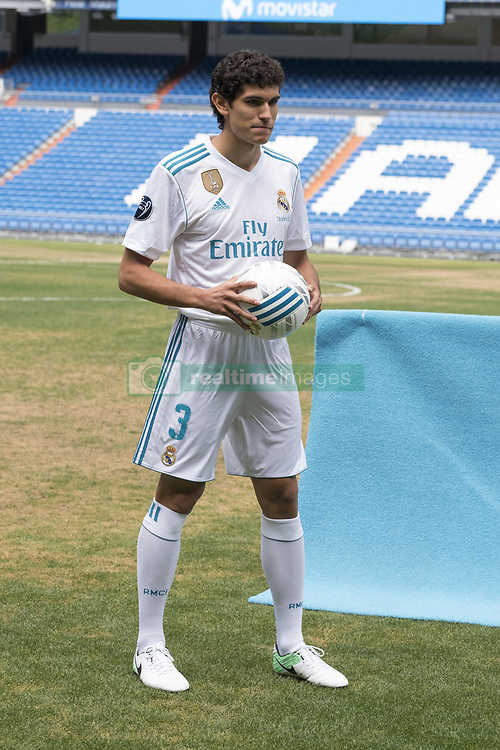 July 7, 2017 - Madrid, Spain - Real Madrid soccer player Jesus Vallejo is presented at Bernabeu stadium on July 7, 2017 in Madrid, Spain. (Credit Image: © Oscar Gonzalez/NurPhoto via ZUMA Press)