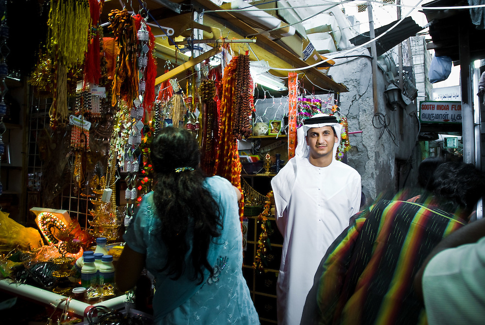 Khaled Al-Muhairy, founder and Chief Executive of Evolvence Capital, a Dubai based investment company, poses for a portrait near a Hindu Temple in Dubai's, Bur Dubai district on Monday, October 27, 2008.